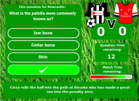 Football learning game
